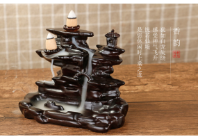 Backflow Incense Burner - Waterfall With (TWO) Incense At One Time (C014)