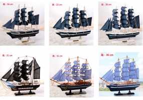 Wooden Model Ship / Pirate Ship For Home Decoration & Gifts (D011-D016)