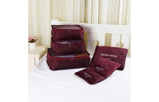 High Quality Travel Organizer Bag Pouch Set/6 Pcs (F004)