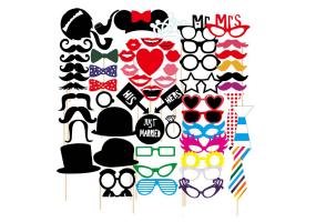 Party / Birthday / Wedding Photo Props Photo Booth Props 58 Piece Set -  (W015)