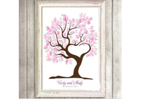 Fingerprint Canvas Wedding Fingerprint Tree, Signature Tree, DIY Wedding & Party Sign (W008)