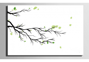 Fingerprint Canvas Wedding Fingerprint Tree Branch, Signature Tree Branch, DIY Wedding & Party Sign (W010)