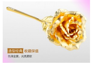24k Gold Rose / Flowers With Gifts Box