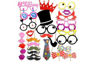 Party / Birthday / Wedding Photo Props Photo Booth Props 31 Piece Set -  (W021)