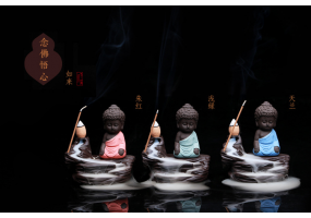 Backflow Incense Burner - Little Buddha  (C015)