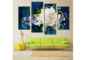 4pcs Stylish  Unframed Canvas Print Wall Paint Decoration Picture  - (D017)