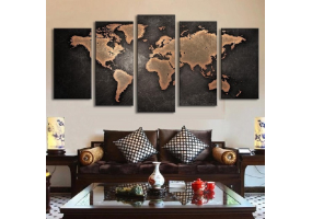 5pcs Stylish  Unframed Canvas Print Wall Paint Decoration Picture  - (D021)