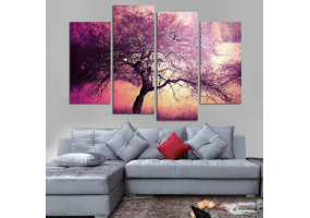 4pcs Stylish  Unframed Canvas Print Wall Paint Decoration Picture  - (D022)