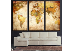 3pcs Stylish  Unframed Canvas Print Wall Paint Decoration Picture  - (D024)