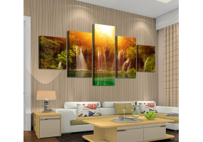 5pcs Stylish  Unframed Canvas Print Wall Paint Decoration Picture  - (D025)