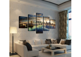 5pcs Stylish  Unframed Canvas Print Wall Paint Decoration Picture  - (D026)