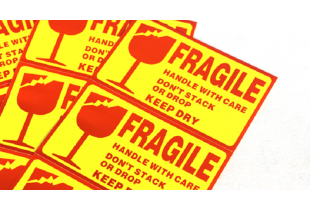 Warning Fragile Sticker  (F014)