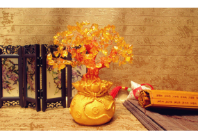 Money Tree Bonsai Tumbled Crystal Lucky Fengshui Decoration Tree - (D027)