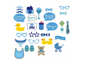 Party / Newborn Baby Photo Props / Baby Shower Photo Props 30 Piece Set -  (W023)