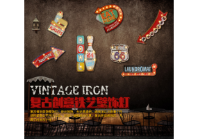 Old School / Vintage - Wall Signboard Decoration - (D033)