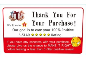 Thank You & Rating Sticker Use With Courier / flyer & Fragile Sticker  - (F018)