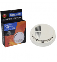 Smoke Detector Alarm (9v Battery Included) - (S002)