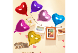 10 & 18 inches Heart & Star Shaped Party Balloons - (W029A)