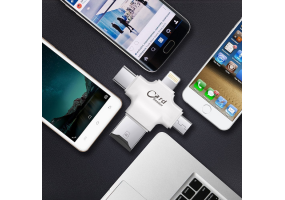 4-in-1 OTG Flash Drive for iPhone iPad Android Type-C micro USB with USB Connector - (P012)