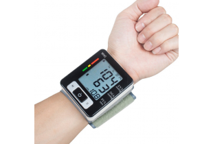 Scanning Wrist Watch Blood Pressure Monitor Silver 2 x AAA Included - (E004)