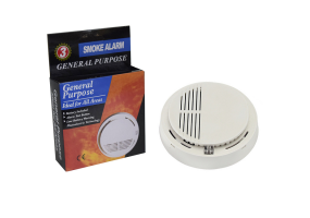 5 Pcs Cordless Smoke Detector Alarm (9v Battery Included) - (S002A)