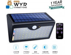 60 LED Wireless  Solar Motion Sensor Lights Outdoor with Remote Control