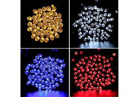 Solar String Lights (100 LED, 12 m, Waterproof, 8 Modes)  - D042