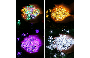 Solar String Lights , Cherry Blossom (50LEDs, 7 m, Waterproof, 8 Modes)  - D043