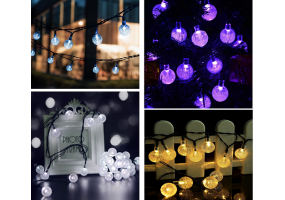 Solar Globe String Lights  (30LEDs, 6.5 m, Waterproof, 8 Modes)  - D044