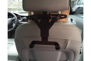 Car Back Seat Tablet Ipad Headrest Mount Holder with 360 Degree Adjustable Rotating Travel Kit