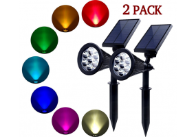 7 RGB LED Solar Waterproof Garden Spotlight Flood light( Changing Color)