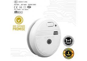 Super Sensitive KingDun KD 133 A Smoke Detector (9v Battery Included) 1 Year Warranty