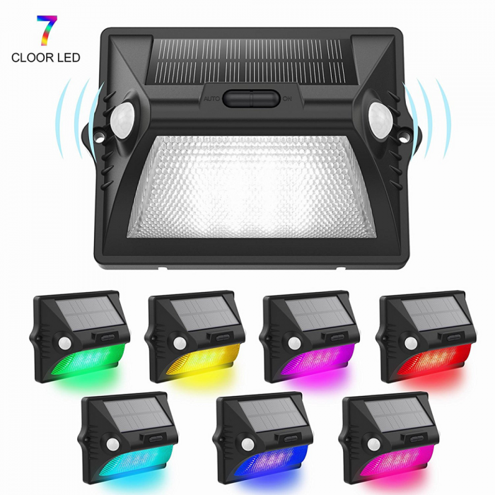 Solar Rgb Led Lights 7 Color Changing Wireless Waterproof