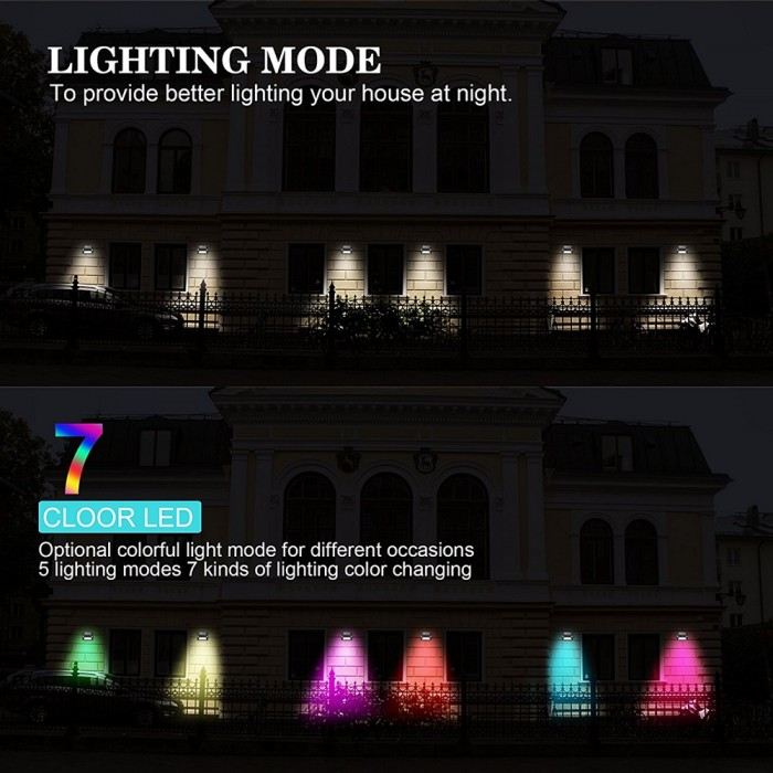 Solar rgb led lights 7 color changing wireless waterproof motion solar rgb led lights 7 color changing wireless waterproof motion sensor outdoor lights mozeypictures Gallery