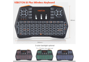 VIBOTON i8 Plus 2.4GHz LED Backlight Mini Wireless Keyboard with Air Mouse Touchpad Remote Control