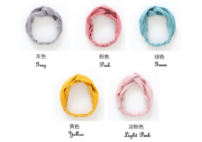 5 Pcs Set Elastic Headband Woman Girls Accessories Head Band Hairband (F020)
