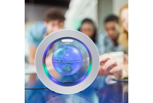 Decoration Magnetic Floating Glow Globe With LED Light - Anti-gravity Levitation Rotating Earth Worl