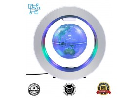 Decoration Magnetic Floating Glow Globe With LED Light - Anti-gravity Levitation Rotating Earth World Map