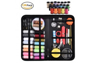 Sewing Kit Portable Sewing Supplies Case with 138pcs Sewing Accessories