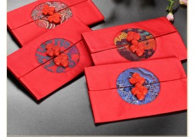 Red Packet / Ang Pao - Silk Material - (A029) 4 Pcs Set