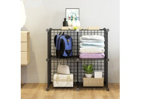 Wire Storage Cubes,  Wire Grids Cube Closet Organizer Shelf Cabinet Bookcase Black