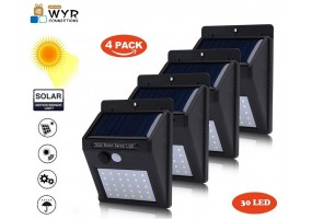 30 LED Wireless Waterproof Solar LED Motion Sensor Light For Outdoor Wall Lamp Security Light