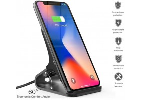 10W Fast Charge Qi Wireless Charger Stand