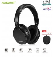 AUSDOM M06 Lightweight Headset Stereo EDR Wired Wireless Bluetooth Over Ear Headphones Deep Bass with microphone