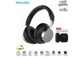 Mixcder MS301 aptX Low Latency Deep Bass Stereo Headset Wired Wireless Bluetooth Over The Ear Headph