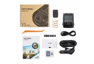 "Rexing V1 3rd Generation 4K UHD WiFi Car Dash Cam 2.4"" LCD 170° Wide Angle Dashboard Camera Rec"