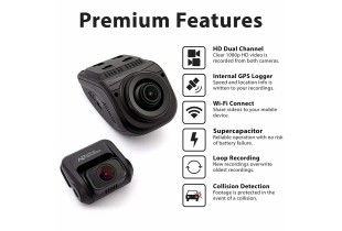 Rexing V1P Pro Dual 1080p Full HD Front and Rear 170 Degree Wide Angle Wi-Fi Car Dash Cam with Built