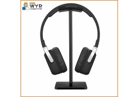 Headphone Stand Headset Holder New Bee Earphone Stand with Aluminum Supporting Bar Flexible Headrest ABS Solid Base for All Headphones Size