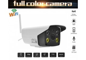Full Colour CCTV Camera 1080P Wireless Waterproof WiFi IP Security Camera Video and Audio IR Night Vision Full Color View And Download Anytime From App
