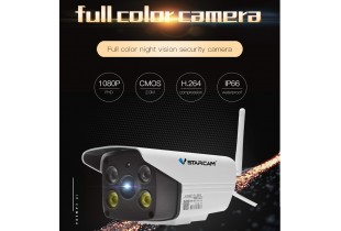 Full Colour CCTV Camera 1080P Wireless Waterproof WiFi IP Security Camera Video and Audio IR Night V
